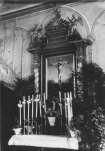 Altar der Weisendorfer Kirche vor etwa 100 Jahren