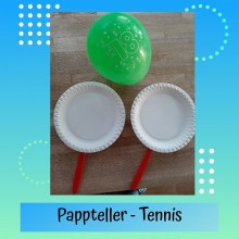 Pappteller-Tennis 1